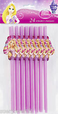 Disney Princess Tangled Rapunzel Straws 24pcs Party Favors Supplies