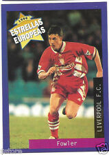Rare '96 Panini England's EUROPEAN SUPER STAR Robbie Fowler with Liverpool F.C.