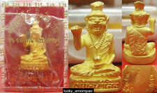 Mini Statue Phra LERSI Head Tiger LP KEE Thai Buddha Amulet lucky Rich NO.4