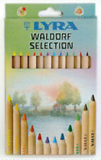 Lyra Super Ferby Colour Pencils - 12 Colour Set - Waldorf Steiner Selection