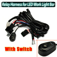 40A 3M Relay Harness Wiring Kit For LED Work Light Bar With On/Off Switch