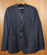 BLUE M&S COLLEZIONE SINGLE BREASTED MENS JACKET, 42L , WOOL RICH TAILORED FIT