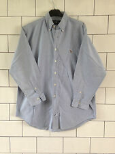 URBAN VINTAGE RETRO LONG SLEEVED RALPH LAUREN BLUE CASUAL SHIRT #48
