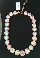 J Crew FACTORY IRIDESCENT CRYSTAL DOTS NECKLACE! Nwt New$59.50 pink iridescent