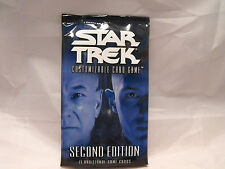 STAR TREK CCG 2E SECOND EDITION SEALED BOOSTER PACK OF 11 CARDS