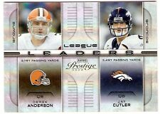 JAY CUTLER DEREK ANDERSON SN #/25 2008 PLAYOFF PRESTIGE LEAGUE LEADERS 5 BRONCOS