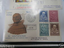 FIRST DAY COVER 1er JOUR POSTE VATICANO 1960 SANT'ANTONINO - BUSTA vatican FDC