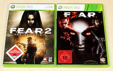 2 XBOX 360 SPIELE SET - FEAR 2 PROJECT ORIGIN & FEAR 3 F3AR F E A R - SHOOTER