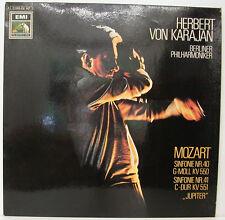 """HERBERT VON KARAJAN MOZART SINFONIE NR. 40 & NR. 41 JUPITER 12"""" LP (f160)"""