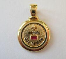 Pendentif Médaille d'Amour - Rubis calibrés - Gold pendant or 18 carats 750