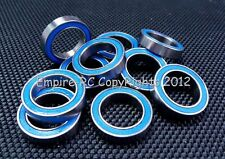 "ABEC-3 (10 PCS) R1212-2RS (1/2""x3/4""x5/32"") Rubber Sealed Ball Bearing Blue"
