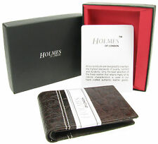 WALLET MENS BROWN GENUINE REAL LEATHER CREDIT CARD HOLDER GIFT BOX UK NEW BR804
