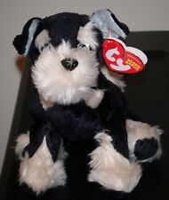 Ty Beanie Baby ~ PRETZELS the Schnauzer Dog ~ MINT with MINT TAGS ~ RETIRED