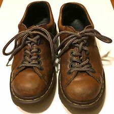 Dr Martens Brown Leather Oxford Chunky Shoes Boots Mens AirWair Size 6 US M Doc