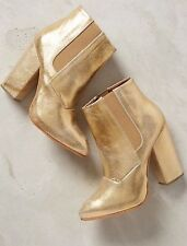 NEW Rachel Comey Beautiful Seton Gold Metallic Booties Ankle Boots $538