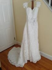 Maggie Sottero Lorie (ivory) Size 6 A-line Satin Wedding Dress BRAND NEW