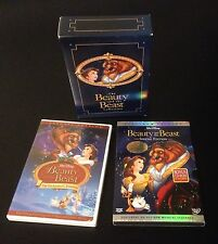 Disney BEAUTY and the BEAST Platinum DVD ENCHANTED CHRISTMAS Trilogy Collection