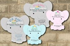 Elephant Baby Shower Invitations Theme Cards Die Cut Boy Girl Baby Shower Cards