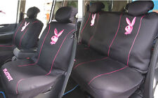 Playboy Car Seat Cover Front & Rear Metallic Pink Mesh full set M