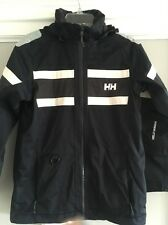 Helly Hanson Tech Offshore rain gear for boys black size 14 made in Norway