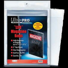 50 Ultra Pro Life Magazine Size Storage Bags and Boards New