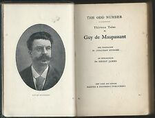 Odd number, 13 tales by guy de maupassant 1917 harper & brothers mini hc ex-lib
