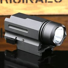 Tactical 300LM Cree LED Powered Flashlight Torch Mount for Pistol Rifles Shotgun