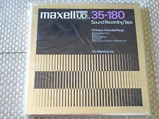 "MAXELL UD 35-180 10.5"" 1/4"" REEL RECORDING TAPE 3600 FT NEW FACTORY SEALED!!!"
