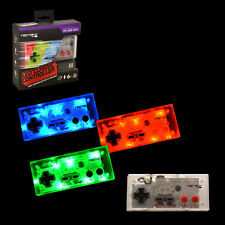 LED RetroLink NES Style USB Controller for PC & Mac - Red/Green/Blue