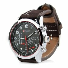 Infantry Mens Analog Quartz Sport Military Leather Wrist Watch Luminous New
