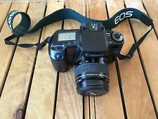 CANON EOS ELAN 35MM SLR FILM CAMERA & 35-105MM ULTRASONIC LENS 1:4.5-5.6