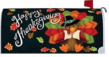 Happy Thanksgiving Turkey Magnetic Mailbox Cover