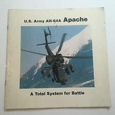 APACHE US ARMY AH-64A HELICOPTER MANUFACTURERS SALES BROCHURE MCDONNELL DOUGLAS