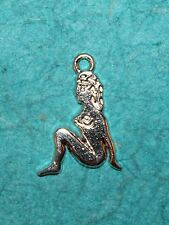 Pendant Pin-Up Charm Sexy Girl Pendant Playmate Charm Nude Woman Charm DIVA