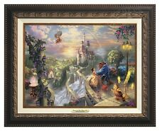 BEAUTY AND THE BEAST - Thomas Kinkade Canvas Classic (Aged Bronze Frame)