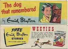 WEETIES AUSTRALIA CEREAL GIVEAWAY PROMO ENID BLYTON THE DOG WHO REMEMBERED VF
