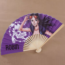 Cosplay One Piece Nico Robin Anime Japanische Folding Floral Hand Fan L.22cm