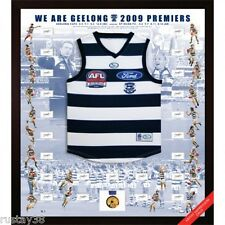 GEELONG CATS 2009 AFL PREMIERSHIP TEAM HAND SIGNED FRAMED JUMPER SELWOOD BARTEL