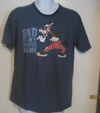 Disney Store Bad Is My Middle Name Tee T Shirt Mens M Medium Big Bad Wolf j32