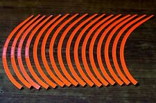 Rim Stripe Wheel Stickers For Bike / Car - Neon ORANGE ###