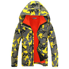 Mens 3 in 1 Fleece Lined Skiing Hiking Outdoor Sport Jacket Waterproof Warm Coat
