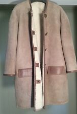 New And Authentic Donna Karan Shearling w leather trim coat