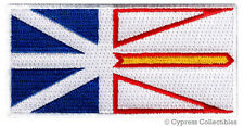 NEWFOUNDLAND LABRADOR PROVINCE FLAG PATCH CANADA EMBROIDERED IRON-ON Canadian