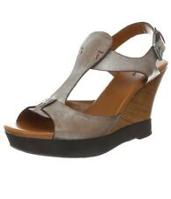 *NEW in Box nicole Women's Abacus Wedge Sandal in Abacus Silver - Size 7.5 US