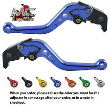 Kawasaki ZRX1100 1200 1999- 2007 Short Adjustable Brake & Clutch CNC Levers Blue