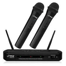 NEW Pyle PDWM2130 FM Wireless Dual Microphone System W/ 2 Mics & Dual Frequency