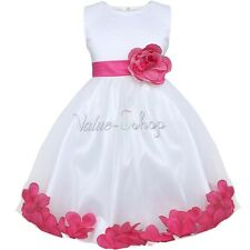 Petal Flower Baby Girl Kid Princess Wedding Bridesmaid Party Pageant Prom Dress