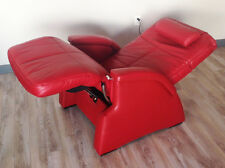 Genuine Leather Red PC-085 Transitional Zero Gravity Perfect Chair Recliner