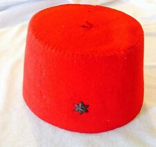 African Military Hat Fez Cap French Light Cavalry Soldier Vintage Militaria Old