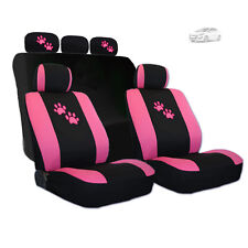 New Pink Paws Car Seat Covers and Headrest Covers Gift Set For Hyundai